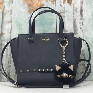 Nwt Kate Spade bundle  Hadlle satchel+key chain